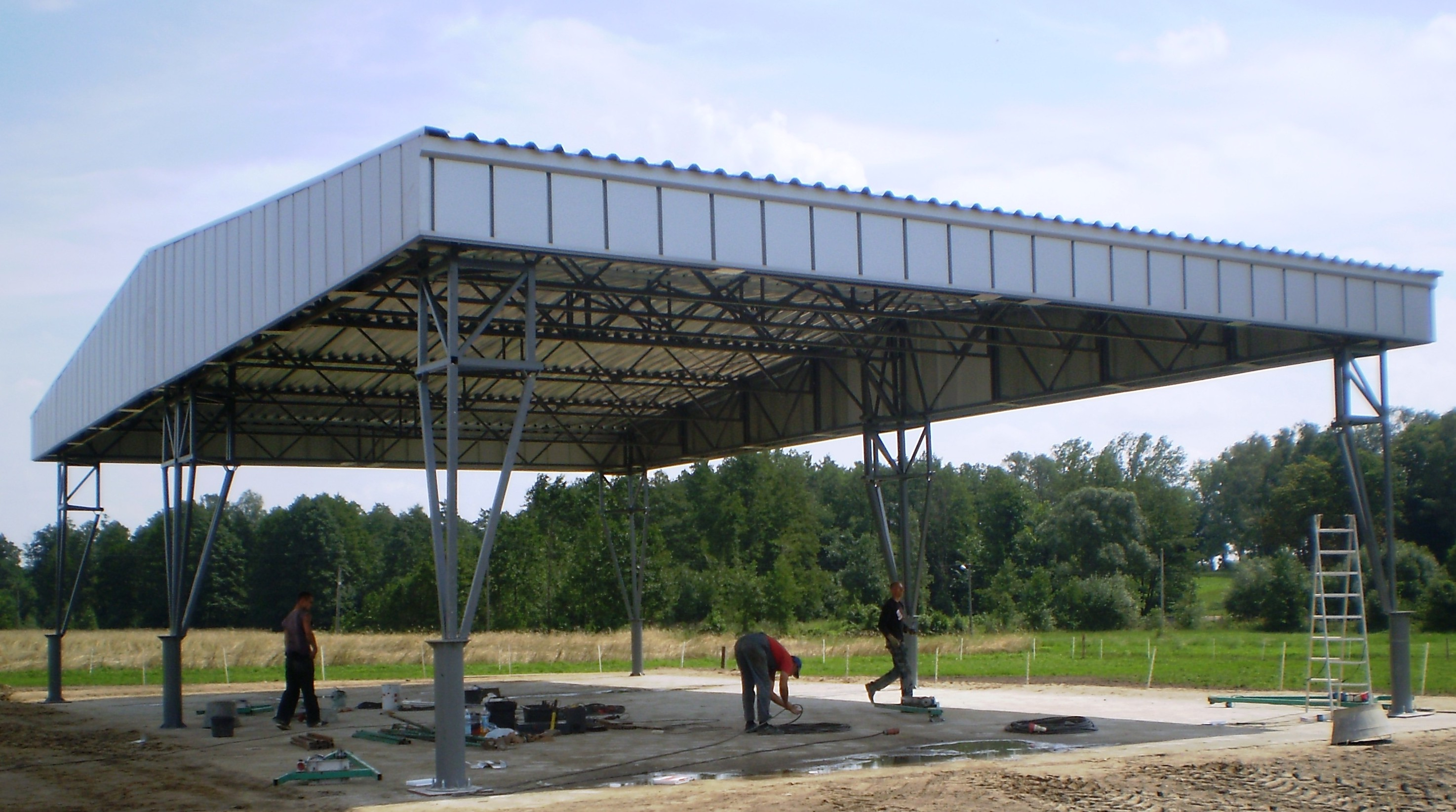 Agricultural Steel Shelter : Bin technologia przechowywania ziarna i przygotowywania